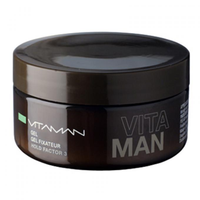 Gel fissante uomo effetto bagnato vitaman gel cera capelli uomo - Gel effetto bagnato ...