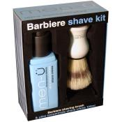 Men-ü - KIT RASATURA PENNELLO & CREMA DA BARBA - Regalo Natale